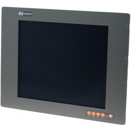 "19"" IP65 Panel mount LCD touch monitor, VGA, DVI"