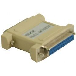 DB25 nullmodemadapter med...