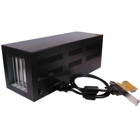 PCI Express til 4 X PCI slot. PCI Express kort i PC giver 4 ekstra PCI slot til full size kort