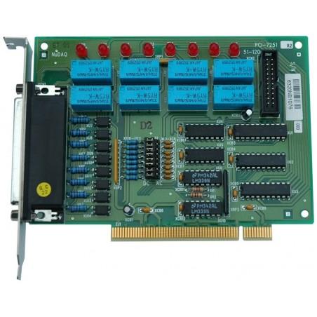ADLINK PCI-7251. 8 kanalers isoleret digital input, 8 kanalers relæ output slave-kort til REL8OPT8PCI, PCI
