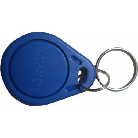 RFID tag udformet som nøglering i blå