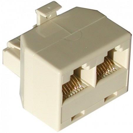RJ45 fordeler 1 til 2, Pin 1 til Pin 1 på alle osv.