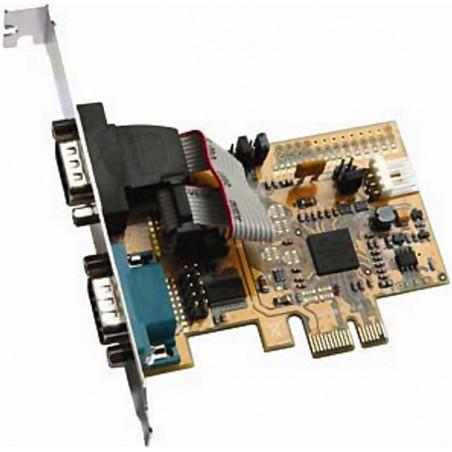 2 x RS232 porte til PCI Express Høj og lav bagplade
