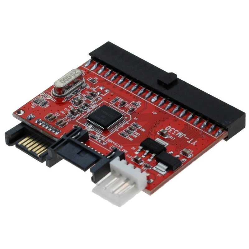 """Omformer SATA til 40 pin IDE. Tilslut SATA hardiske til IDE interface og omvendt. 40 pin (3½"""")"""