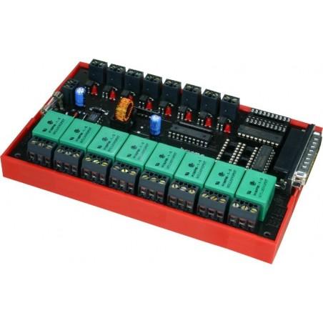Interface terminal kort 8 relæ og 8 optoisoleret indgangeterminal