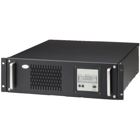 """4 kVA / 2.6 kW UPS, nødstrømforsyning til 19"""" rack, inkl. 6 x 12V/7Ah batterier, 3U"""