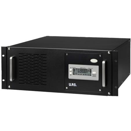 """5 kVA / 3.5kW UPS, nødstrømforsyning til 19"""" rack, inkl. 12 x 12V 7Ah batterier"""