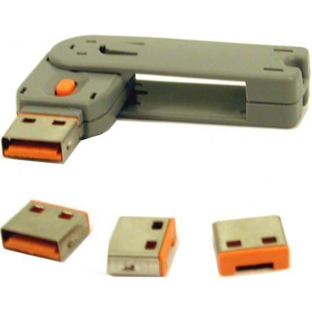 Mekanisk låse-indsats til USB port. Bloker åbne USB porte mod brug/misbrug