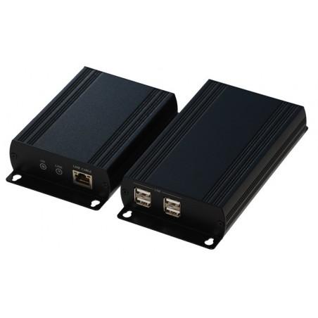 4 ports USB2.0 extender op til 150m via RJ45 kabel