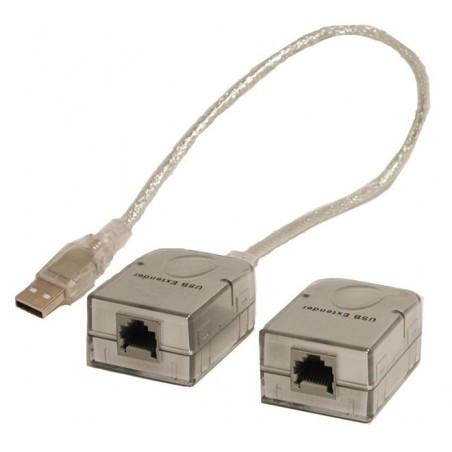USB extender op til 45m via RJ45 kabel, (kan overføre USB touch signal fra monitor)