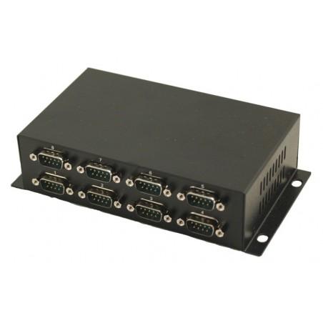 USB til 8 x RS232 porte, galvanisk isoleret