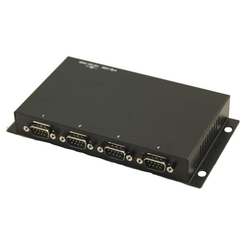 USB til 4 x RS232 adapter - USB kabel medfølger