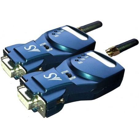 Trådløs RS232 via Bluetooth - op til 1 km med eksterne antenner, leveres som sæt