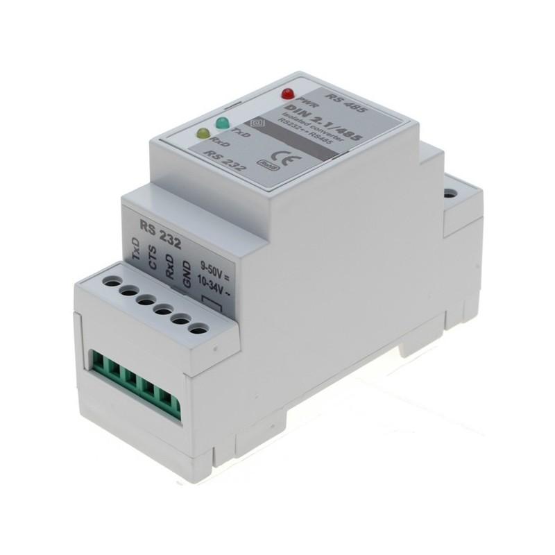 Isoleret RS232 til RS485 konverter til DIN-skinne montage