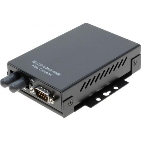 RS232 til Multi Mode fiber konverter, 50/125 og 62,5/125, ST stik, op til 2km