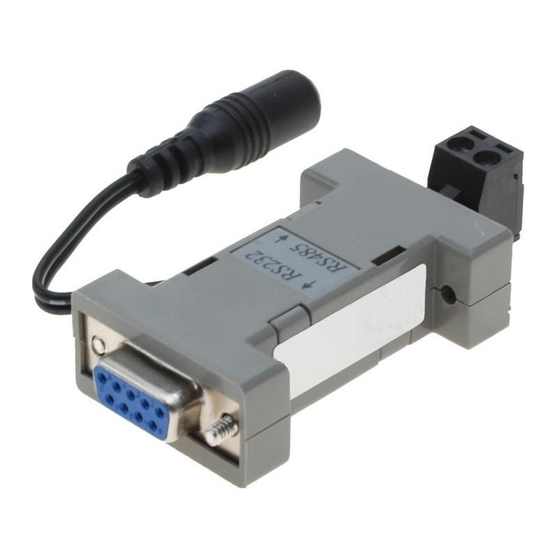 Isoleret RS232 til RS485 konverter – kan forsynes fra RS232 handshake eller strømforsyning