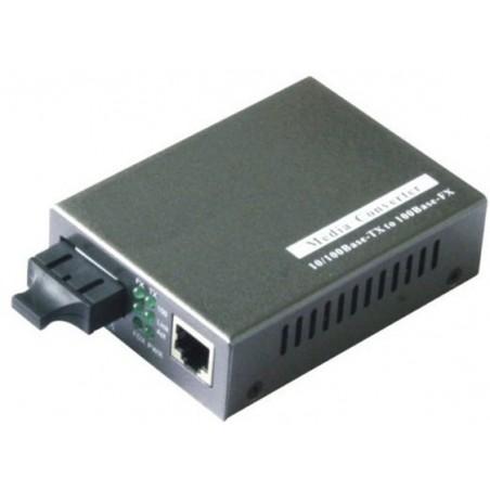 Mediekonverter RJ45 til 1000Mbit Single Mode Fiber, SC, 20km