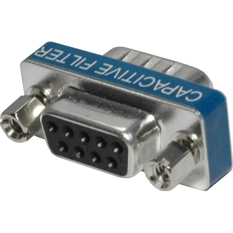 DB9 adapter med EMC-skydd . Skydda COM-port från buller , direktillanslutillning eller mellan tillvå kablar