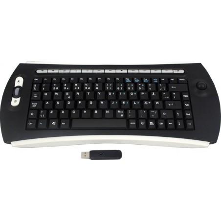 Trådløst tastatur med trackball - USB - DK