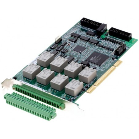 Adlink PCI7260+ACL-10337. 8 kanalers relæ output, 8 isolerede digitale input, PCI