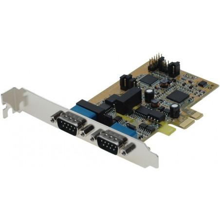 2 x RS422 / 485 seriel porte til PCI Express, 2,5KW isolation