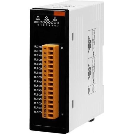 8 x slutterelæ styret fra USB porten, 5 Amp ved 250VAC, 30VDC. Strømforsynes fra USB, -25 til +75°C