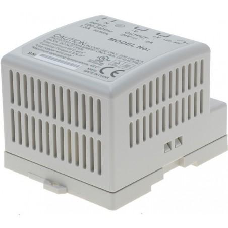 12V/3.5A strømforsyning, 85 - 264VAC, DIN-skinne