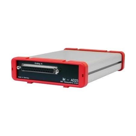16 x Spændingsindgange, op til +/-10V, 16bit, 2 analoge udgange +/-10V, 16bit, 16 DI/DO, LAN