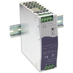 12V/10A strømforsyning, 180-550VAC, DIN-skinne