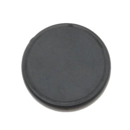 RFID tag udformet som klæbebrik i sort, rund