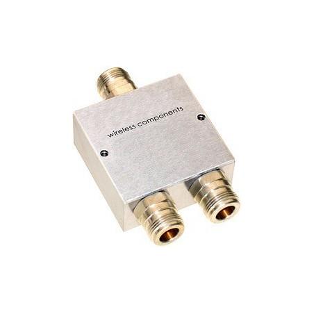 RF Combiner, Power Splitter, Divider. 2 antenner til samme transceiver. N-type hun, 698 - 2700 MHz, 50 Ohm
