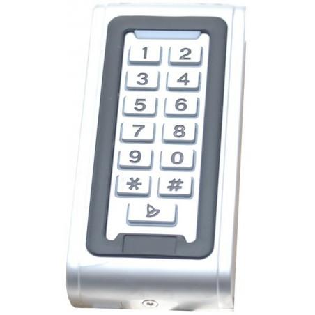 Udendørs tastatur med RFID/brik læser. Stand-alone adgangskontrol.