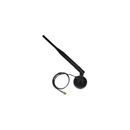 5 dBi 2,4GHZ omni pisk-antenne, magnetfod med kabel, RSMA han stik