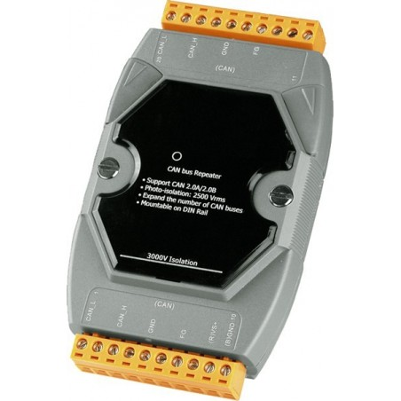 Optoisoleret CAN bus repeater til DIN-skinne montage