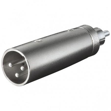 XLR adapter 3-pin XLR han – RCA han