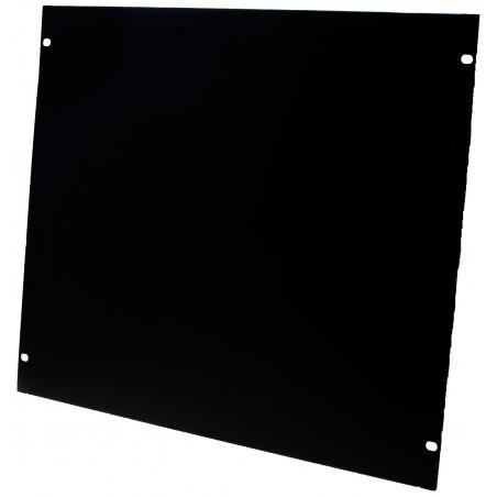 """9U blindplade. Til 19"""" rackskab, sort"""