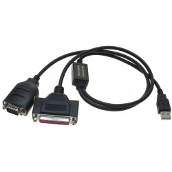 USB til 1 x RS232 port og...