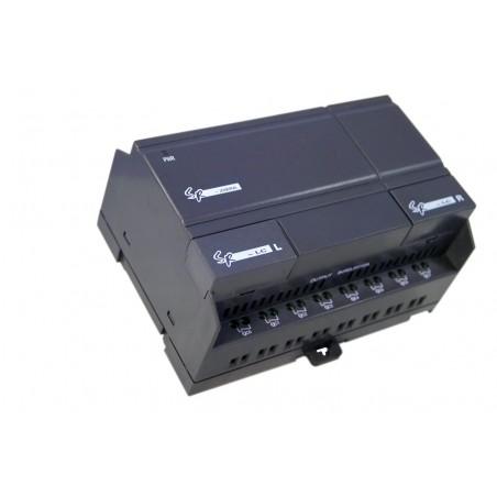 12 stk. digitale DC indgange, 8 Transistor-udgange. DC 12-24V
