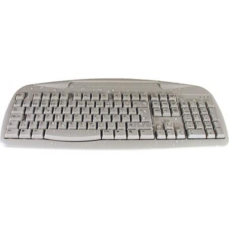 IP66 tæt industritastatur - USB, norsk tegnsæt, grå