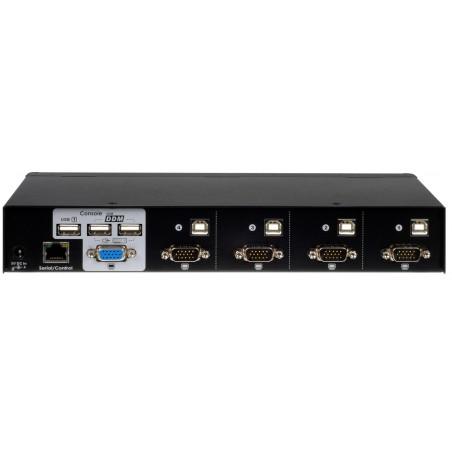 4 ports KVM omskifter med DDM