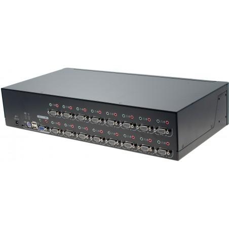 16 ports KVM omskifter, VGA, USB med OSD
