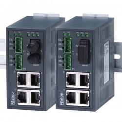 5 ports switch 4 x RJ45 10/100 + 1 x SC, Single Mode - Unmanaged, 9-30VDC