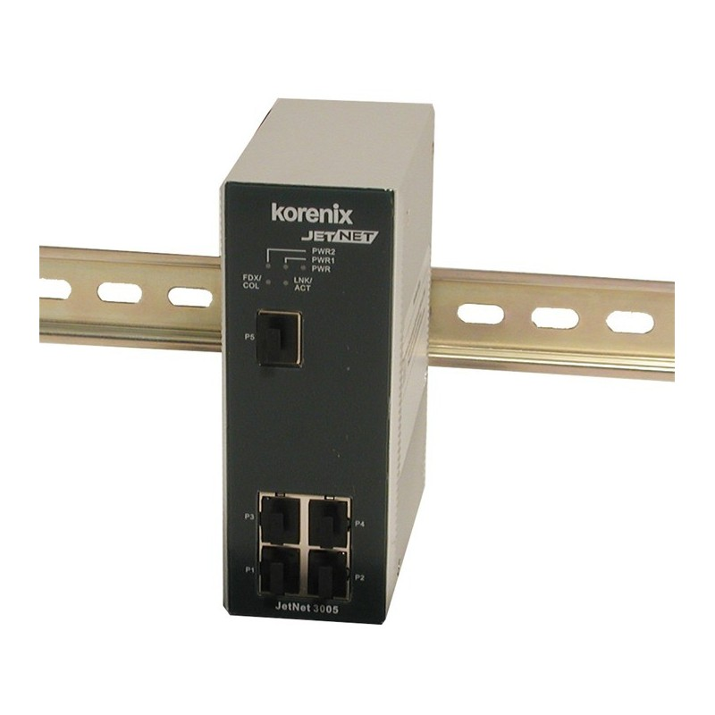5 ports switch 10/100Mbit RJ45 DIN - Unmanaged switch