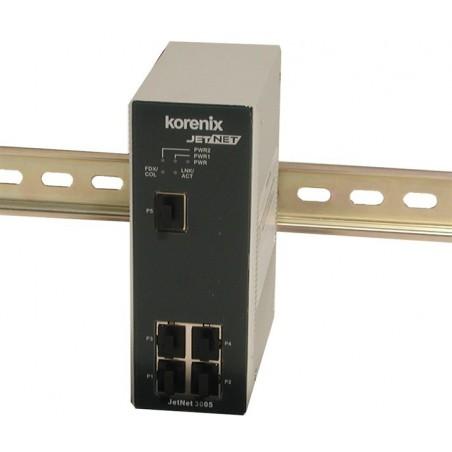 5 ports switch 10/100Mbit RJ45 DIN - Unmanaged, 12-48VDC