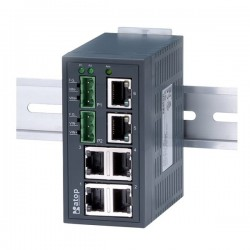 6 ports switch 10/100 RJ45 Redundant PSU input - Unmanaged switch