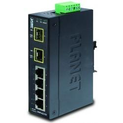 6 ports switch 4 x 10/100, 2 x 100base SFP - Unmanaged, 12-48VDC