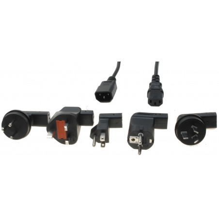 Universal powerkabel med 5 adaptere