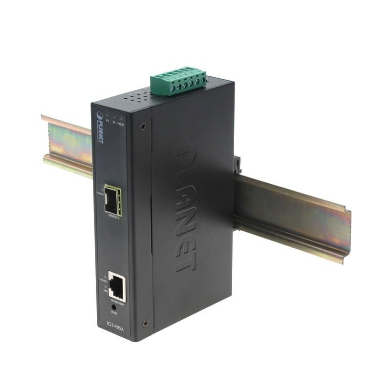 Mediekonverter RJ45 til Fiber SFP Gigabit modul