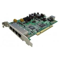 4 porter 100Mbit nettverkskort, PCI, PoE. Korenix JETCARD 2215