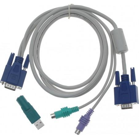 PS2 tastatur og mus samt VGA samlet i ét kabel, 1,8 m